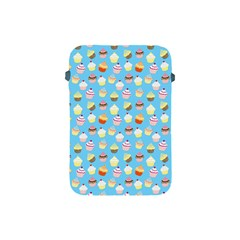 Pale Pastel Blue Cup Cakes Apple Ipad Mini Protective Soft Cases by PodArtist