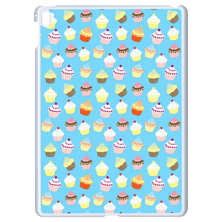Pale Pastel Blue Cup Cakes Apple iPad Pro 9.7   White Seamless Case