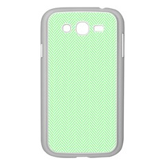 Classic Mint Green & White Herringbone Pattern Samsung Galaxy Grand Duos I9082 Case (white) by PodArtist