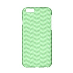 Classic Mint Green & White Herringbone Pattern Apple Iphone 6/6s Hardshell Case by PodArtist