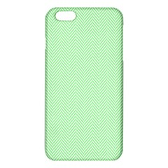 Classic Mint Green & White Herringbone Pattern Iphone 6 Plus/6s Plus Tpu Case by PodArtist
