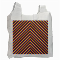 Gay Pride Flag Rainbow Chevron Stripe Recycle Bag (one Side) by PodArtist