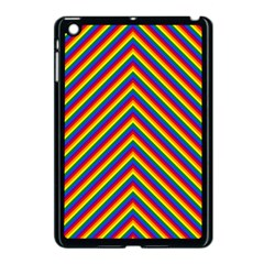 Gay Pride Flag Rainbow Chevron Stripe Apple Ipad Mini Case (black) by PodArtist