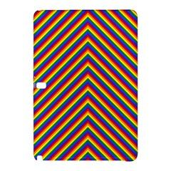 Gay Pride Flag Rainbow Chevron Stripe Samsung Galaxy Tab Pro 10 1 Hardshell Case by PodArtist