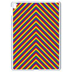 Gay Pride Flag Rainbow Chevron Stripe Apple Ipad Pro 9 7   White Seamless Case by PodArtist