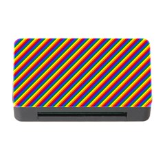 Gay Pride Flag Candy Cane Diagonal Stripe Memory Card Reader With Cf by PodArtist