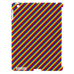Gay Pride Flag Candy Cane Diagonal Stripe Apple Ipad 3/4 Hardshell Case (compatible With Smart Cover) by PodArtist
