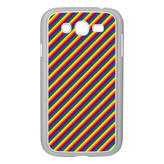 Gay Pride Flag Candy Cane Diagonal Stripe Samsung Galaxy Grand Duos I9082 Case (white) by PodArtist