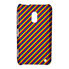 Gay Pride Flag Candy Cane Diagonal Stripe Nokia Lumia 620 by PodArtist