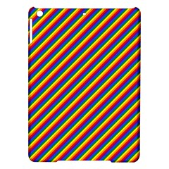 Gay Pride Flag Candy Cane Diagonal Stripe Ipad Air Hardshell Cases by PodArtist