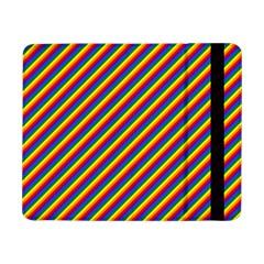 Gay Pride Flag Candy Cane Diagonal Stripe Samsung Galaxy Tab Pro 8 4  Flip Case by PodArtist