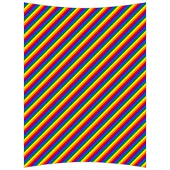 Gay Pride Flag Candy Cane Diagonal Stripe Back Support Cushion by PodArtist