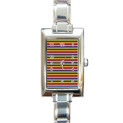 Horizontal Gay Pride Rainbow Flag Pin Stripes Rectangle Italian Charm Watch by PodArtist