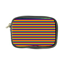 Horizontal Gay Pride Rainbow Flag Pin Stripes Coin Purse by PodArtist