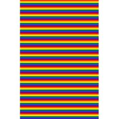 Horizontal Gay Pride Rainbow Flag Pin Stripes 5 5  X 8 5  Notebooks by PodArtist