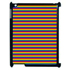 Horizontal Gay Pride Rainbow Flag Pin Stripes Apple Ipad 2 Case (black) by PodArtist