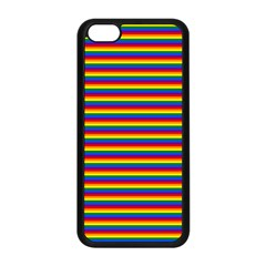Horizontal Gay Pride Rainbow Flag Pin Stripes Apple Iphone 5c Seamless Case (black) by PodArtist