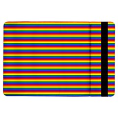 Horizontal Gay Pride Rainbow Flag Pin Stripes Ipad Air Flip by PodArtist