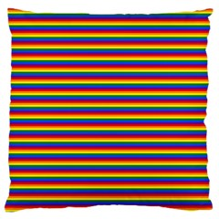 Horizontal Gay Pride Rainbow Flag Pin Stripes Standard Flano Cushion Case (one Side) by PodArtist