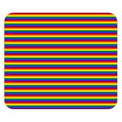 Horizontal Gay Pride Rainbow Flag Pin Stripes Double Sided Flano Blanket (small)  by PodArtist