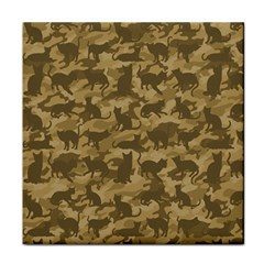 Operation Desert Cat Camouflage Catmouflage Tile Coasters by PodArtist