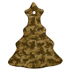 Operation Desert Cat Camouflage Catmouflage Christmas Tree Ornament (two Sides) by PodArtist