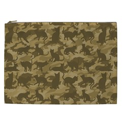Operation Desert Cat Camouflage Catmouflage Cosmetic Bag (xxl)  by PodArtist