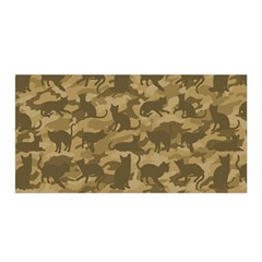 Operation Desert Cat Camouflage Catmouflage Satin Wrap by PodArtist