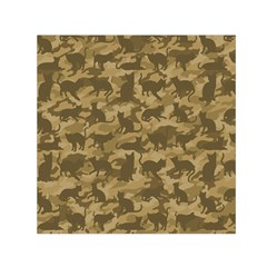 Operation Desert Cat Camouflage Catmouflage Small Satin Scarf (square) by PodArtist