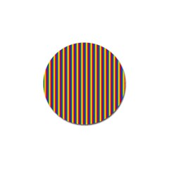 Vertical Gay Pride Rainbow Flag Pin Stripes Golf Ball Marker (10 Pack) by PodArtist
