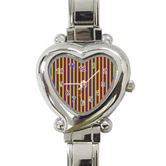 Vertical Gay Pride Rainbow Flag Pin Stripes Heart Italian Charm Watch by PodArtist