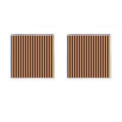 Vertical Gay Pride Rainbow Flag Pin Stripes Cufflinks (square) by PodArtist