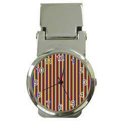 Vertical Gay Pride Rainbow Flag Pin Stripes Money Clip Watches by PodArtist
