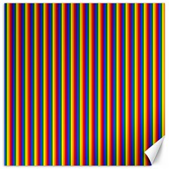 Vertical Gay Pride Rainbow Flag Pin Stripes Canvas 12  X 12   by PodArtist