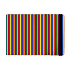Vertical Gay Pride Rainbow Flag Pin Stripes Apple Ipad Mini Flip Case by PodArtist