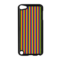 Vertical Gay Pride Rainbow Flag Pin Stripes Apple Ipod Touch 5 Case (black) by PodArtist