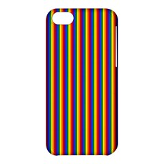 Vertical Gay Pride Rainbow Flag Pin Stripes Apple Iphone 5c Hardshell Case by PodArtist