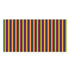 Vertical Gay Pride Rainbow Flag Pin Stripes Satin Shawl by PodArtist
