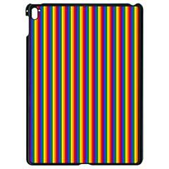 Vertical Gay Pride Rainbow Flag Pin Stripes Apple Ipad Pro 9 7   Black Seamless Case by PodArtist