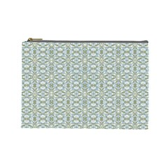 Vintage Ornate Pattern Cosmetic Bag (large)  by dflcprints