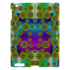 Celtic Mosaic With Wonderful Flowers Apple Ipad 3/4 Hardshell Case by pepitasart