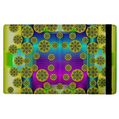 Celtic Mosaic With Wonderful Flowers Apple Ipad 3/4 Flip Case by pepitasart