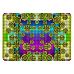 Celtic Mosaic With Wonderful Flowers Samsung Galaxy Tab 8 9  P7300 Flip Case