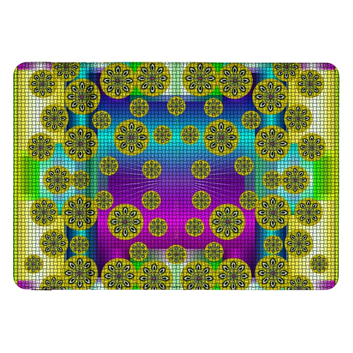 Celtic Mosaic With Wonderful Flowers Samsung Galaxy Tab 8.9  P7300 Flip Case