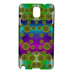Celtic Mosaic With Wonderful Flowers Samsung Galaxy Note 3 N9005 Hardshell Case by pepitasart