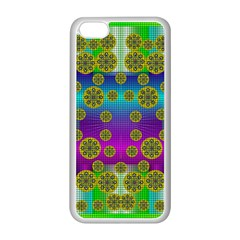 Celtic Mosaic With Wonderful Flowers Apple Iphone 5c Seamless Case (white) by pepitasart