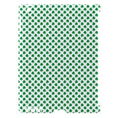 Green Shamrock Clover On White St  Patrick s Day Apple Ipad 3/4 Hardshell Case (compatible With Smart Cover) by PodArtist