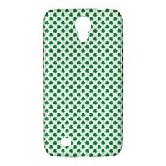 Green Shamrock Clover On White St  Patrick s Day Samsung Galaxy Mega 6 3  I9200 Hardshell Case by PodArtist
