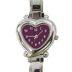 Small Hot Pink Irish Shamrock Clover On Black Heart Italian Charm Watch by PodArtist