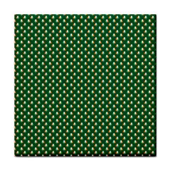 Irish Flag Green White Orange On Green St  Patrick s Day Ireland Tile Coasters by PodArtist